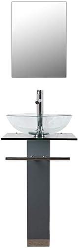 Bathenum 34″ Height Glass Pedestal Sink