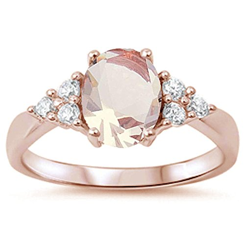 Oxford Diamond Co Rose Gold Plated Silver