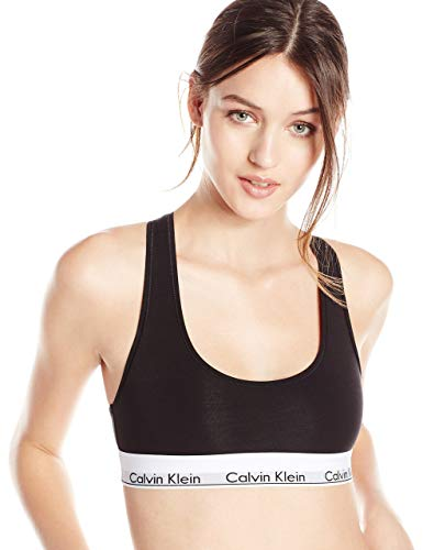 Calvin Klein Women's Regular Modern Cotton Bralette, Black, Medium (Best Bra And Underwear)