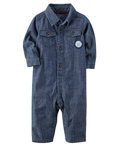 Carter's Baby Boys' Chambray Romper