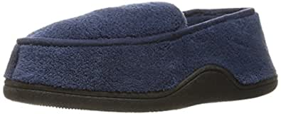Isotoner Men's Microterry Slip On Slippers,  Medium,  Navy