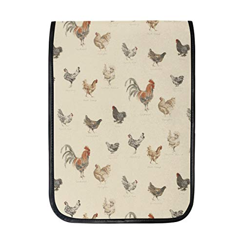 MAPOLO iPad Pro 12.9 Inch Case, Cock Rooster Smart Protective Cover, Build-in Pencil Holder for Apple iPad Pro 12.9