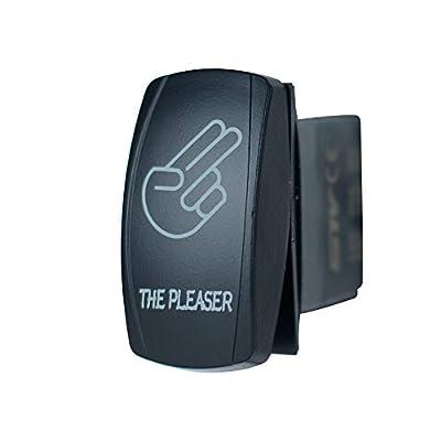 STVMotorsports Laser Backlit Blue Rocker Switch The Pleaser 20A 12V On/Off LED Light: Automotive