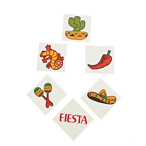 Mexican Fiesta Temporary Tattoos - 72 -