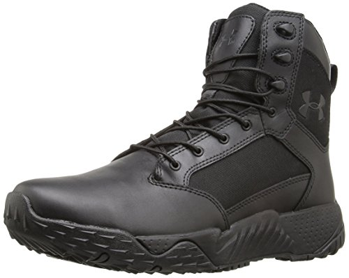 Under Armour Men's Stellar Military and Tactical Boot, Black (001)/Black, 14