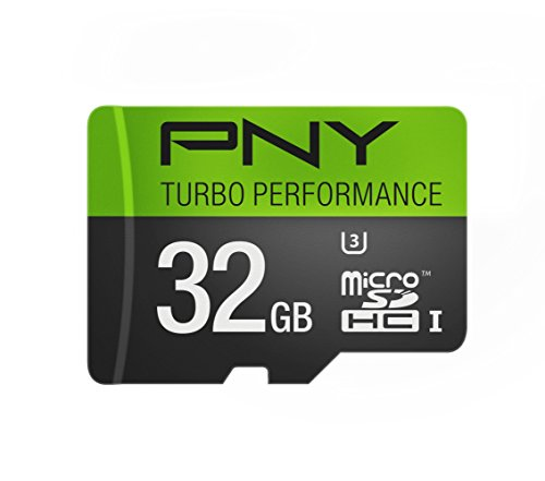 PNY U3 Turbo Performance 32GB High Speed MicroSDHC Class 10 UHS-I, up to 90MB/sec Flash Card -