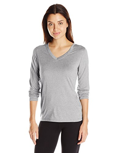 Hanes Sport Cool DRI Women's Performance Long-Sleeve V-Neck