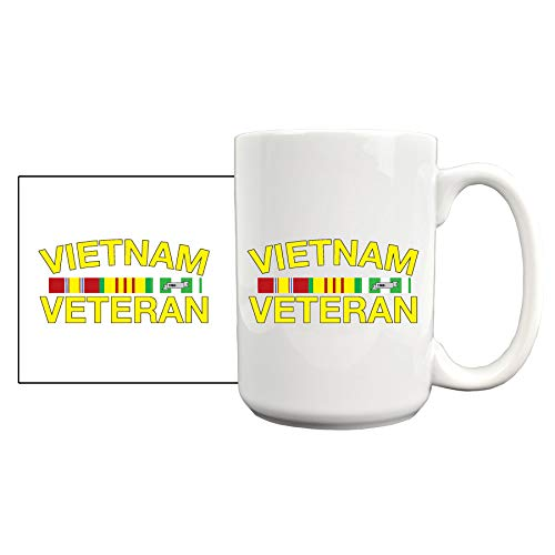 Medals of America Vietnam Ribbon Bar Coffee Mug White