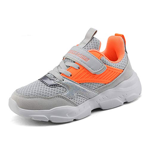 DREAM PAIRS Boys ZP19001K Running Shoes Athletic Sneakers Grey Orange Size 13 M US Little Kid
