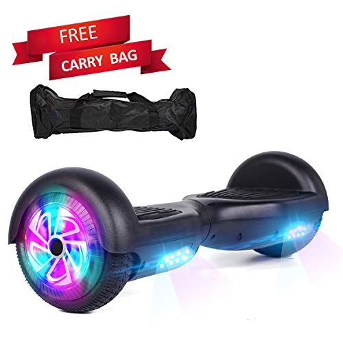 Sea Eagle Hoverboard Self Balancing Scooter Hover Board for Kids Adults with UL2272 Certified,Wheels LED Lights and Free Portable Carrying Bag (Black)