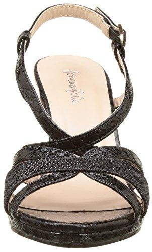 Angkorly - Zapatillas de Moda Sandalias Tacón escarpín sexy mujer piel de serpiente tanga brillantes Talón Tacón embudo 9 CM - Negro