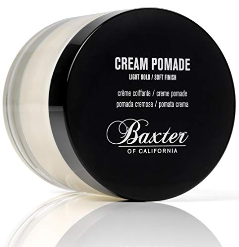 (Baxter of California Cream Pomade, Natural Finish/Light Hold, Hair Pomade for Men, 2 fl. oz.)