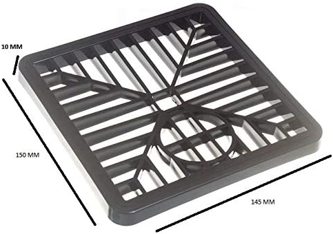 GULLEY Grid Drain Cover LID Black PVC 6 INCH 150MM Square Leaf Cover