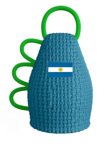 Caxirola-Official Noise Maker Caxirola for FIFA World Cup Brazil 2014 Vuvuzela Horn Substitute (Blue-Argentina)