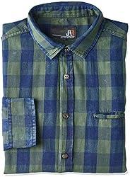 Camisa Manga Longa Yarn Dyed, JAB, Masculino