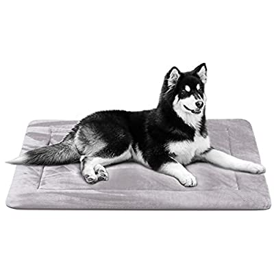 Dog Bed Mat Large Soft Crate Pad 28/35/42 In- 100% Machine Washable Anti-Slip Fleece Mattress Luxury Rich Color