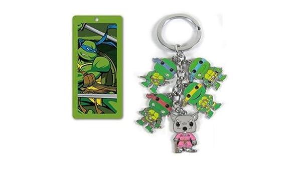 Las Tortugas Ninja 5 en 1 Metal encanto llavero: Amazon.es ...