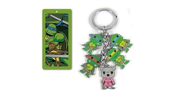 Amazon.com: Las Tortugas Ninja 5 en 1 Metal encanto llavero ...