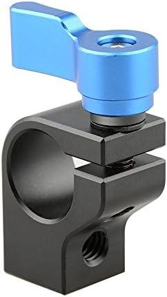 """CAMVATE 15mmロッドクランプ 二つの1/4""""-20ネジ穴つき 15mmレールサポートシステムに接続可能 カメラDIYア"""