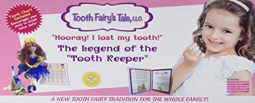 Fairy Tale Chart (Tooth Fairy's Tale Hoory, I Lost My Tooth, Fairy Kit for Girls, Pillow, Book, Doll, Box, Brushing Chart)