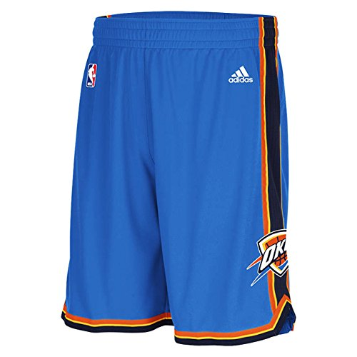 Mens Adidas OKC Thunder Swingman NBA Shorts Blue XL by adidas
