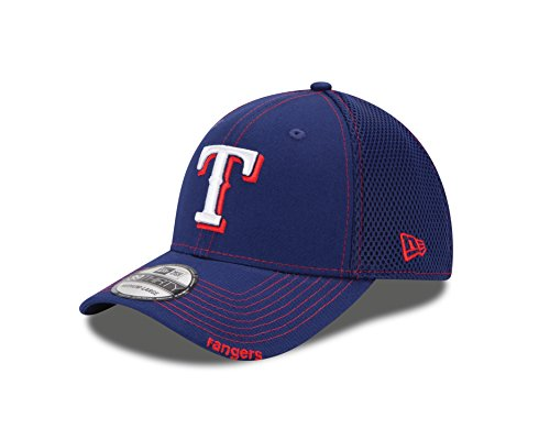 fan products of MLB Texas Rangers NEO 39Thirty Stretch Fit Cap, Blue, Medium/Large