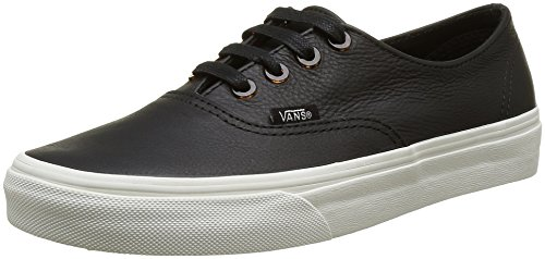 Vans Unisex-Erwachsene Authentic Decon Sneakers Schwarz ((Tortoise) Black/Blanc De Blanc)