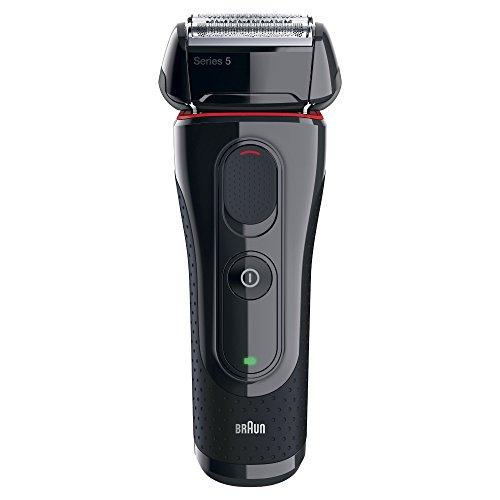 Braun Series 5 5030s elektrischer Rasierer (Wet & Dry, Rasierapparat, Elektrorasierer, Trockenrasierer / Nassrasierer, Herren, 3 Tage Bart) schwarz/rot
