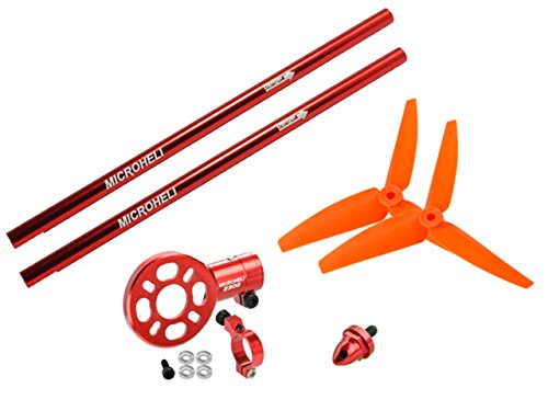 Red Power Package (Microheli CNC Blade 200 S Tail Power package (RED) - BLADE 200 S)