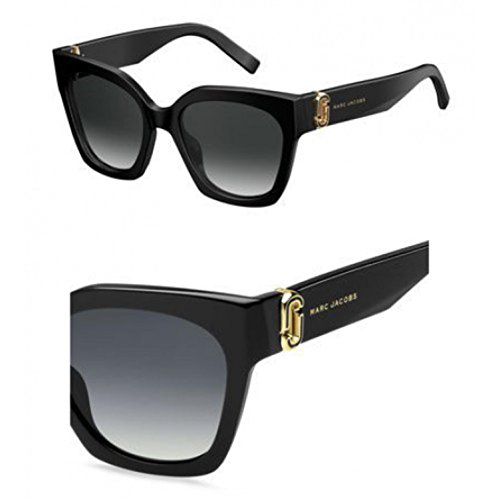 Marc Jacobs Women's Marc 182/S Black With Dark Gray Gradient Lens Sunglasses by Marc Jacobs