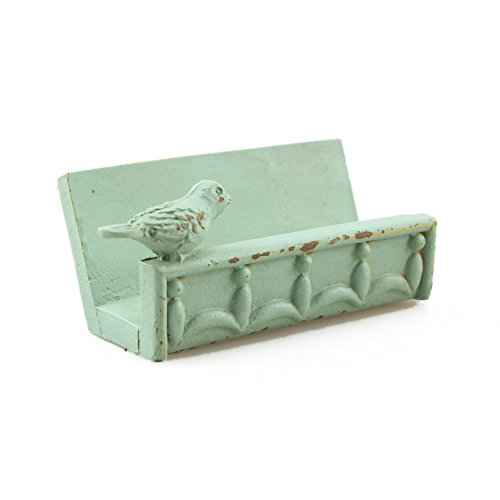 Desk Business Card Holder Stand Bird Design (Green) Cute Business Cards