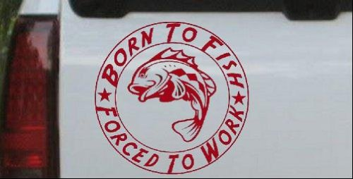 Forced Hunting Fishing Window Sticker