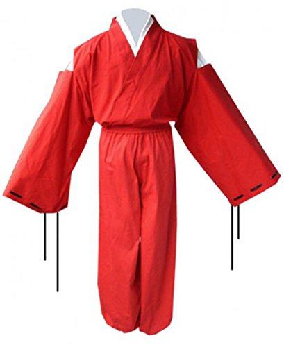[E-Mell Inuyasha Cosplay Costume Half Demon Kimono Suit Outfits,Size XL] (Miroku Cosplay Costume)