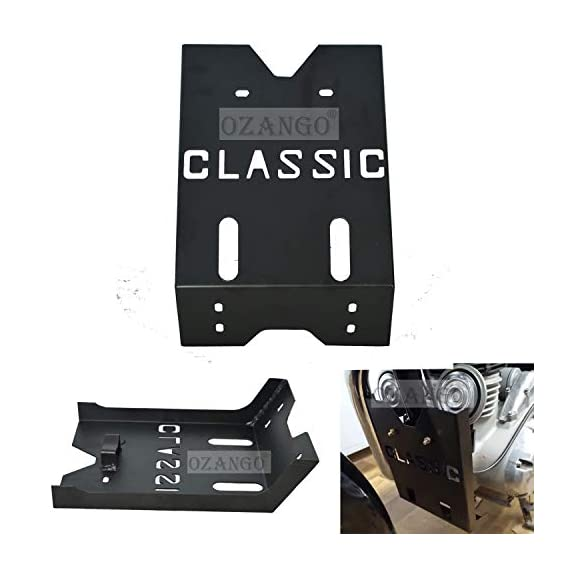 OZANGO Bike ZC01 Safety Engine Guard/BashPlate Black Compatible for Royal Enfield All Classic Models