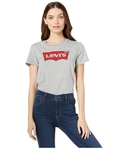 Levi's Women's Slim Crew Logo Tee Shirt, Core Housemark Smokestack Heather, -