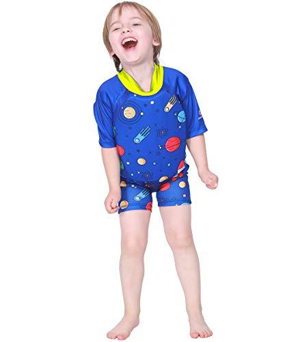 Megartico Kids' Swim Vest Float Suit Buoyancy Swimwear Trainer Boys One Piece Girls Wet Suit - Learn to Swim Shorty Suit]()