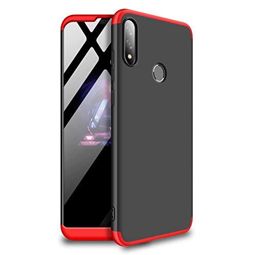 ジョブ熟読する日曜日【M&Y】ASUS ZenFone Max Pro (M2) ケース ストラップホール ZenFone Max Pro (M2) 背面ケース 3パーツ式 ハードケース 6.3インチ ZenFone Max Pro (M2) ZB631KL カバー 2019年発売 「リングスタンド付属」「全9色」MY-ZB631KL-YM-90311 (レッド+ブラック)