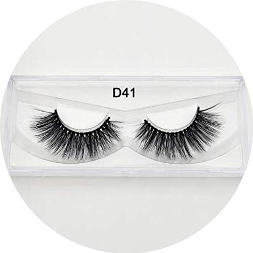 Peony red Silk Eyelashes Eye Lashes Hand Made Natural Long Faux Cils Lashes Reusable False Eyelashes Wimpers Beauty Make Up,silk D41 ()