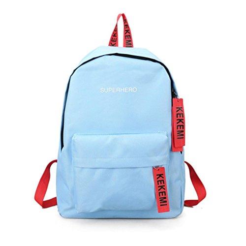 Hot Sale! Koolee Superhero Letter Print Shoulder Bag Girls Canvas Backpack Preppy Style Schoolbag Women Large Simple Daypack (Hot Female Superheros)