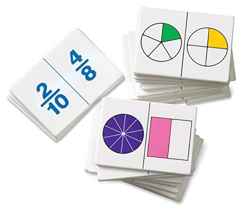 ETA hand2mind Plastic Fraction Dominoes Game (Set of 30)