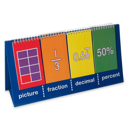 Nasco TB25014T Fractions and Equivalence Tabletop Demo Flip Chart, 7-3/4 x 14-3/4