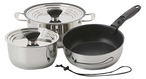 Galleyware Company 9 Piece Nesting Hybrid Induction Cookware Set, Small, Silver by Galleyware Company B01LNTADEE