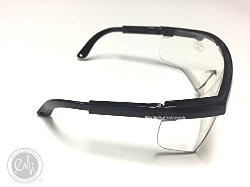 EMI # 411 10 PACK - 10 BLACK Full Frame Adjustable Eyewear Safety Glasses