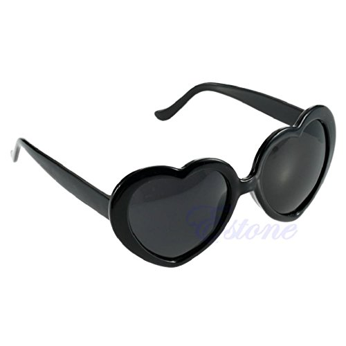 Hukai Vintage Retro 10 Color Men Women New Fashion Lolita Heart Shaped Love Sunglasses - Glasses Shape Shaped Face Heart For