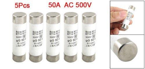 500V 50A Keramikrohr zylindrische Sicherungen 14 x 51mm (Tasche von 5), Model:, Tools & Baumarkt