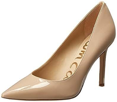 Sam Edelman Women's Hazel Shoe, Nude Linen Patent, 6 Narrow US