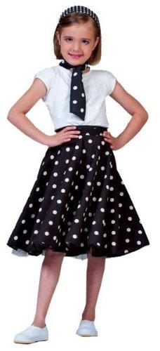 Funny Fashion Sock Hop Skirt Child Black Whi