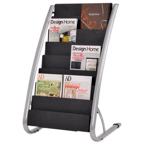Literature Floor 8-Pocket Display Rack, 22-7/8W X 19-3/4D X 36-5/8H