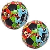 Disney Mickey Mouse Clubhouse 10 centimetri morbido pallone da calcio (pacchetto di 2)