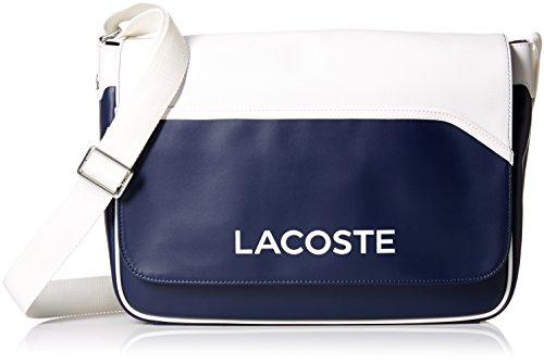 Price comparison product image Lacoste Men's Ultimum Messenger Bag,  Peacoat White